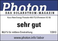 KACO Powador 60.0 TL3: Photon - Mittlere Einstrahlung